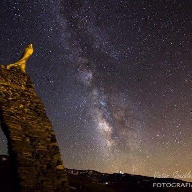 Vía Láctea junto a Virgen de Las Nieves