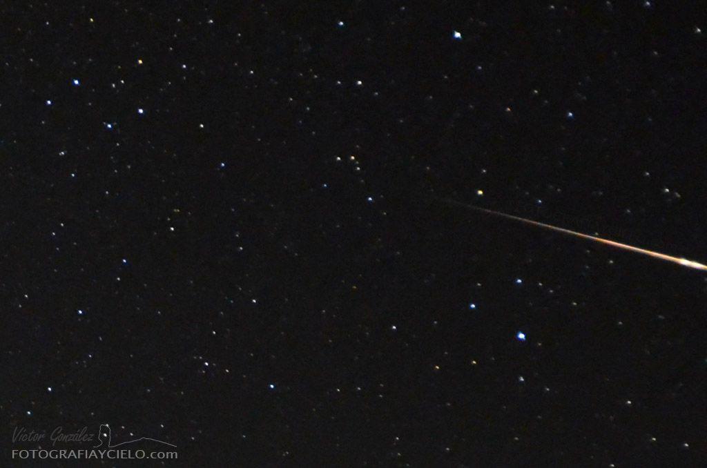 Meteoro surcando el cielo de Canarias