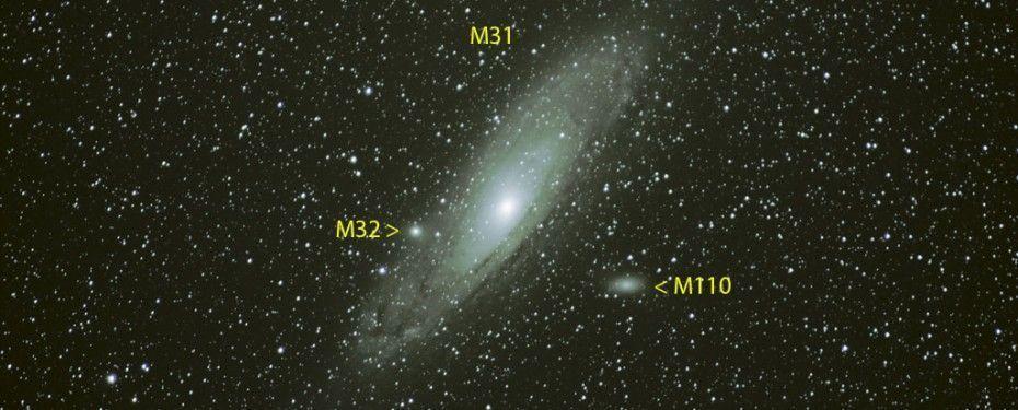 M31 Galaxia de Andrómeda (etiquetada)