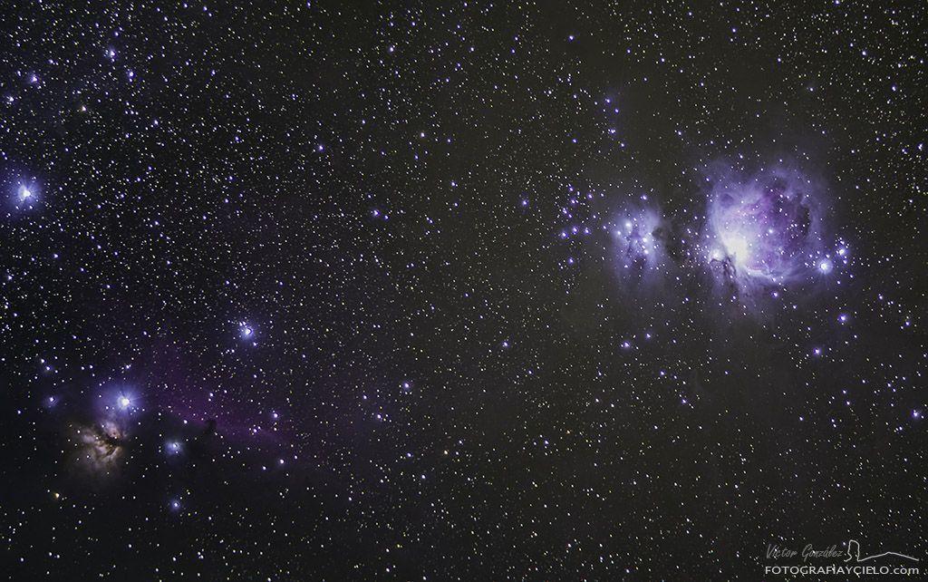 Parte central de la constelación de Orión
