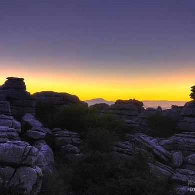 El Torcal de Antequera al alba