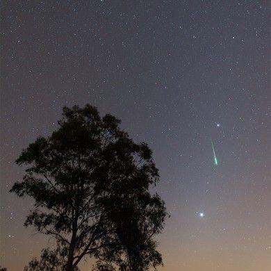 Leónida con Venus, Marte y Júpiter