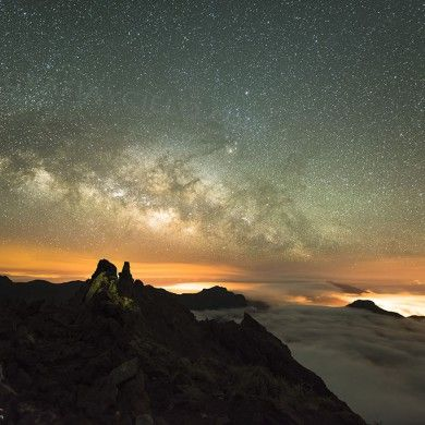 Vía Láctea desde la cumbre de La Palma