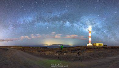 Milky Way Arc from Poris de Abona Lighthouse