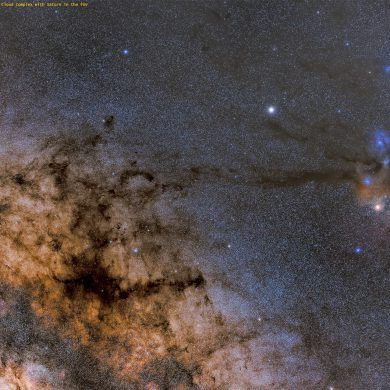 Trifid, Lagoon and rho Ophiuchi Nebulas