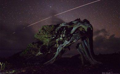 ISS over El Hierro island