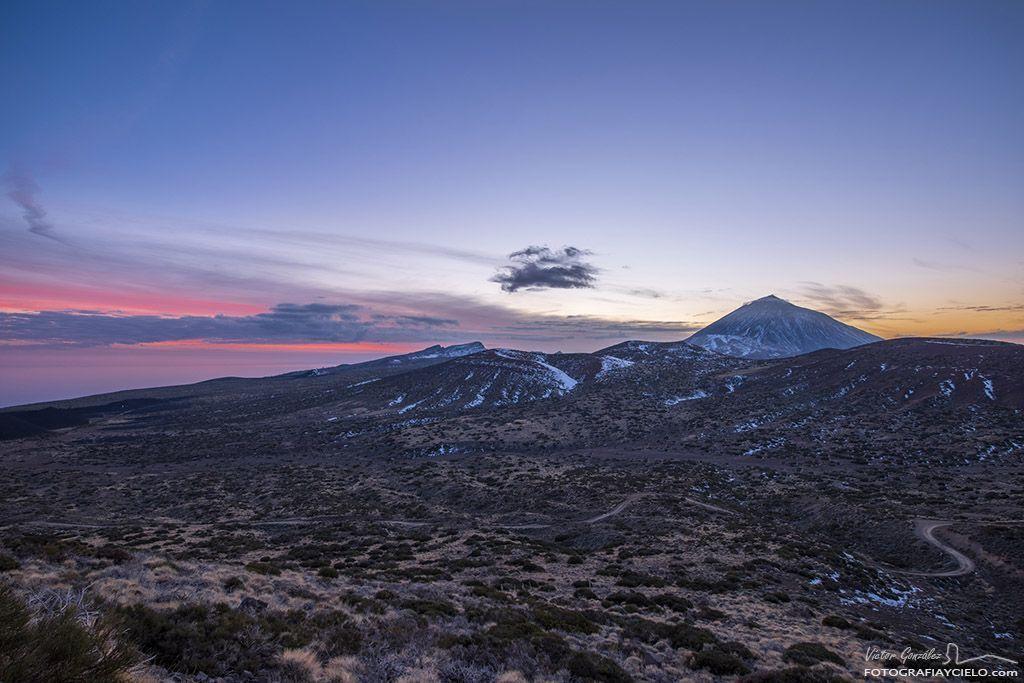 El Teide desde Izaña con luz crepuscular