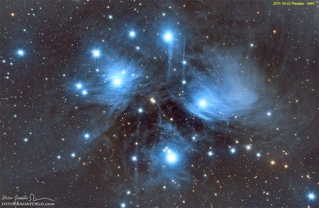 M45, Cúmulo abierto de las Pléyades