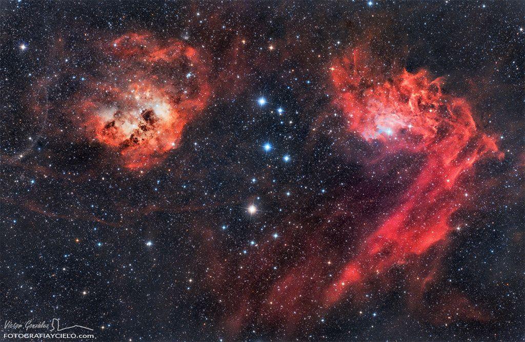 Nebulosas IC405 e IC410